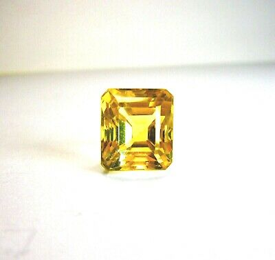 Beautiful 11x10 mm Brazilian 11.02 Ct. Emerald Cut Citrine