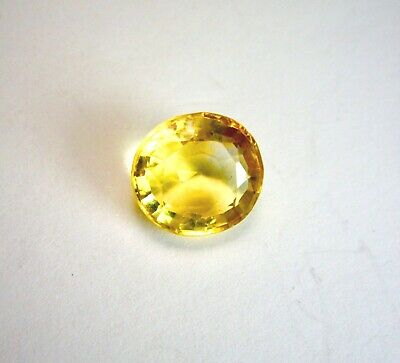 Beautiful 12x11 mm Brazilian 5.50 Ct. Oval Citrine