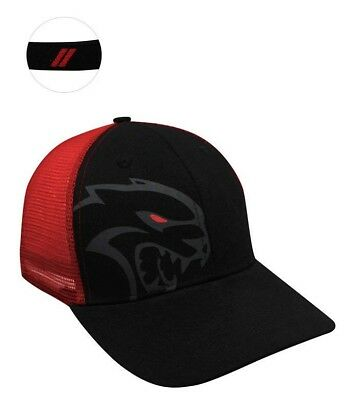 Officially Licensed Dodge Hellcat Red Eye Mesh Back Hat/cap Challenger Charger
