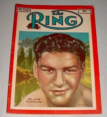 THE RING Boxing MAGAZINE • May 1951 • REX LAYNE Cover • Fight Photos News