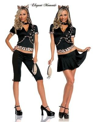Elegant Moments Costume felina 6 pezzi  Include gonna e pinocchietti Taglia:S