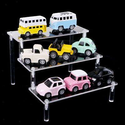 2PCS Acrylic Riser Display Stand Step Shelf Organizer for Figures 3 Tier