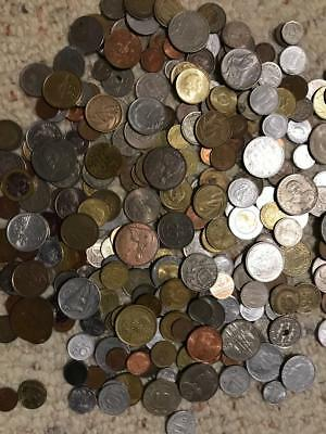 2 Full Lbs Lot of Unsearched World Foreign Coins,