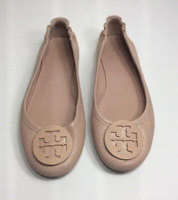 2f0fd4b0a TORY BURCH MINNIE Travel Ballet Flats Leather Size 7M Nude - $115.00 ...