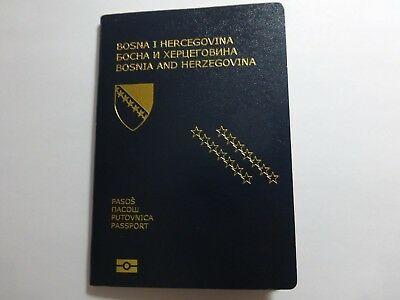 Vintage Passport Bosnia Bih Many Stamps  Europe  Reisepass Expired Cancelled