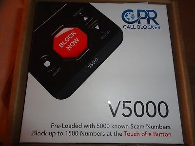 CPR V5000 Call Blocker with Manufacture's Two Year Warranty Block Scam Nuisance