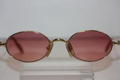 922fb508badf9 Vintage CARTIER Paris Trinity Gold Frame Oval Pink Shades Sunglasses  47-19-130