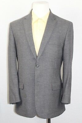 JOS A BANK Men's Solid Gray 2-Btn Dual Vent Modern JOSEPH Slim Fit Wool Suit 42R