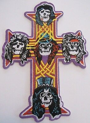 "Guns N/' Roses 4/"" Embroidered Iron On Patch Appetite for Destruction Hard Rock"