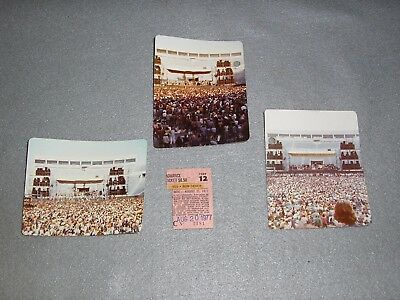 YES Bob Seger Concert Ticket Stub Going For The One Tour August 1977 NY w/Photos