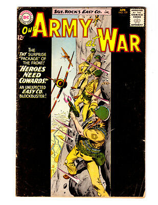 OUR ARMY AT WAR #129 in VG+ grade 1963 DC WAR comic with SGT ROCK & Easy Co.