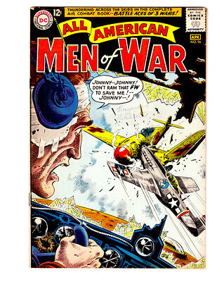 ALL AMERICAN MEN OF WAR #96 in VF- grade 1963 DC WAR comic BATTLE ACES of 3 WARS