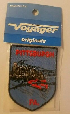 Vintage PITTSBURGH PA Iron-on Patch NEW in Package