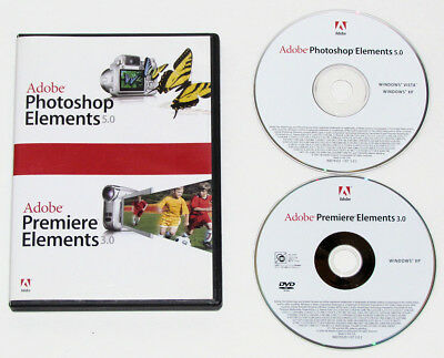 Adobe Photoshop Elements 5.0 & Premiere Elements 3.0 Retail for Windows with SNs