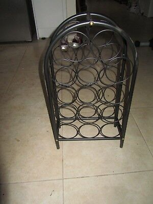 14 Bottle Metal Classic Wine Rack , 36 x 18 cm and 64 cm high
