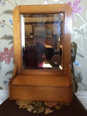 Superb Antique ART DECO GENTLEMAN'S Bedroom/Bathroom BEVELLED MIRROR