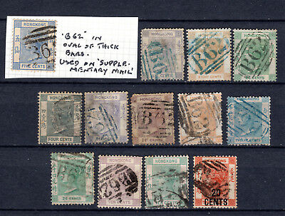 Hong Kong 1862-1885 China Qv With B62 Cds Used Stamps