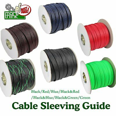 3/8'' Wide Expandable Braided Cable Sleeving Sleeve Wire Weave Protector Guard