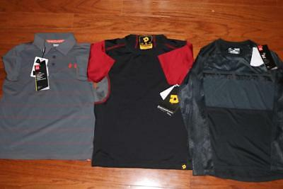 Lot 3 Under Armour Demarini Boys Athletic Shirts Golf Polo 1293963 Small $120