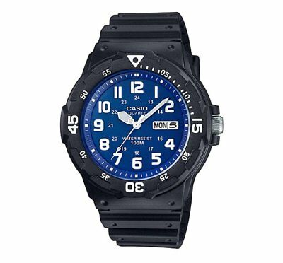 MRW-200H-2B2 Casio Men's black Rubber Strap Day Date 100M Analog Sports Watch