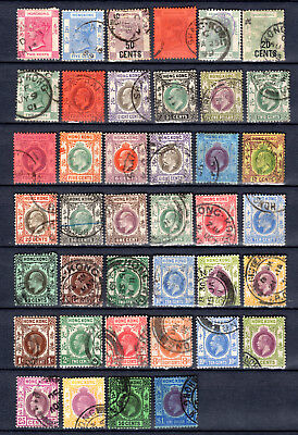 Hong Kong China Qv Kevii Kgv Selection Of Used Stamps Pmk Interest