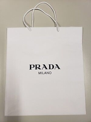 Prada Shopping Bag Paper Carrier Retail Shopping Bag Lot of 10 or more Gift Bags