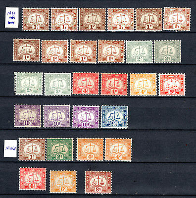Hong Kong  China Selection Of Mnh & Mh Postage Due Stamps
