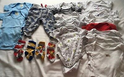 Baby Boy Bundle 0-3 Month, JoJo Next, Bodysuits. Dinosaurs. 20 items