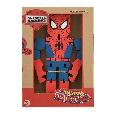 "Disney Marvel SPIDERMAN Wood Warriors Collection 8"" Action Figure NIB"