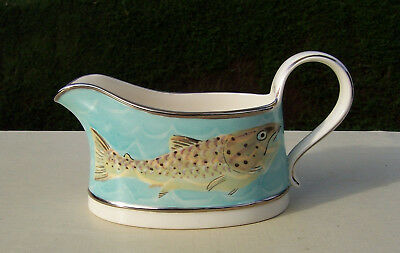 Decorative Hand Painted Trout Fish Gravy or Sauce Boat PK 2008