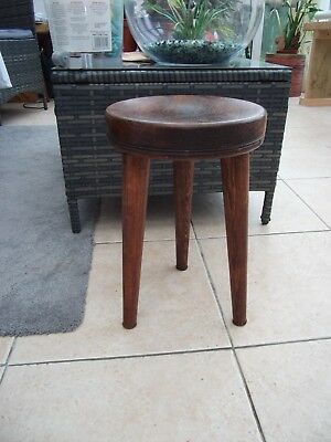 Vintage Collectable Milking Chair / Stool -Mahogany