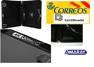 Estuche reemplazo Amaray 4k UHD, bluray 14mm