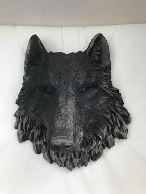 latex mould for making Beautiful wolf wall plaque