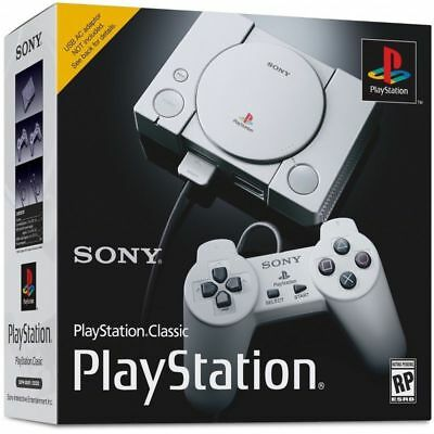 Sony PlayStation Classic Mini Console with 2 Wired Controllers and 20 Games