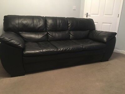 Dfs Black Leather Sofa Chair 483 00 Picclick Uk