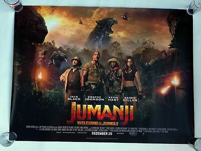 """JUMANJI Welcome To The Jungle 2017 UK Quad Film Poster 40"""" x 30"""" double sided"""