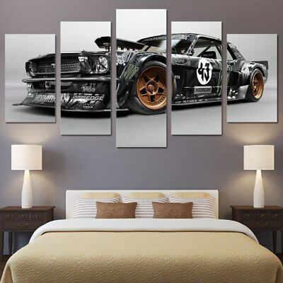 Ford Mustang Rtr Car 5 Pieces canvas Wall Art Picture Home Decor