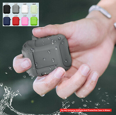 Shockproof Silicone Skin Waterproof Splash Protective Case for Apple AirPods