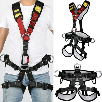 Pro Safety Rock Climbing Harness Belt Tree Arborist Fall Protection Equipment UK