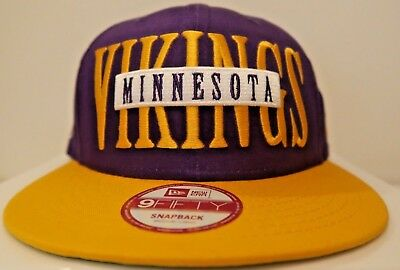 MINNESOTA VIKINGS NFL New Era 9Fifty Official Sideline Yellow ... 823363c71