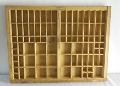 Type Set Drawer Tray Shadow Box Wooden 17 x 22 Thompson Printers Cabinet IT5