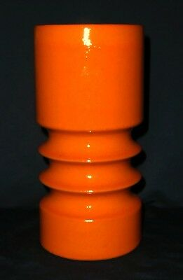 Fohr Keramik Vase, 360-20 orange, West Germany Designklassiker Ceramics Pottery
