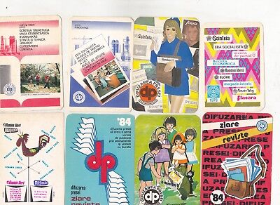 Romania 32 old small calendars newspapers and magazines 1969-1988