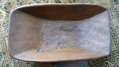 Great Primitive Dough Bowl - Hand carved - smaller size - Excellent condition