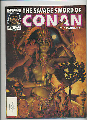 Marvel - Savage Sword of Conan the Barbarian 114 115 & 117 F/VF 3 Issue Lot 1985