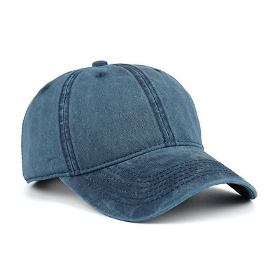 Washed Brushed Twill Cotton Baseball Cap Adjustable Low Profile Dad Hat Casual