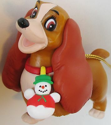 Lady and the Tramp Disney Grolier Christmas Magic Collection Dog Ornament
