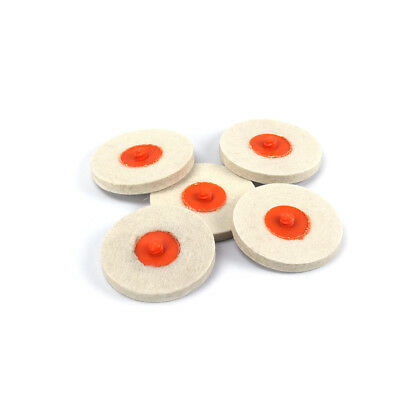 """5Pcs 3"""" Roloc Style Wool Disc Chrome Polishing Buffing Pads Wheel For Furniture"""