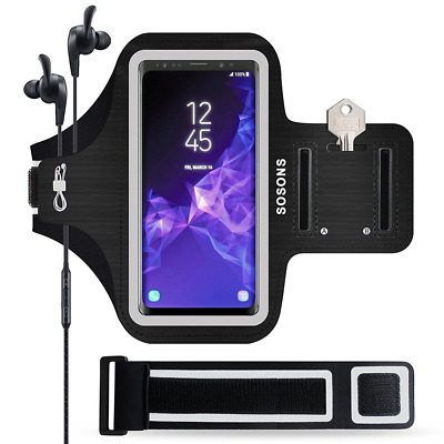 Galaxy S9 Armband Slim Case Waterproof Sports Gym Running Jogging Cover Holder