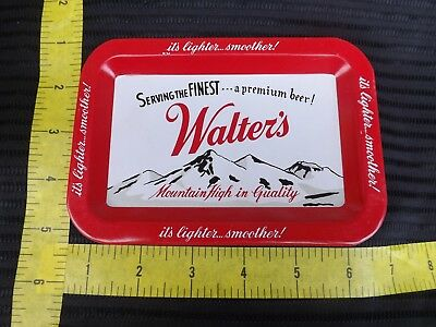 """Vintage WALTER""""S BREWERY TIP TRAY Great Condition!!"""